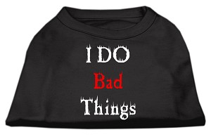 I Do Bad Things Screen Print Shirts Black XS (8)